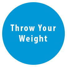 comm-throw your weight